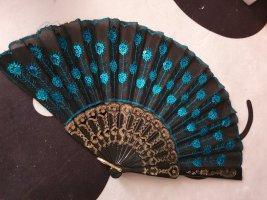 Abanico negro-azul tejido mezclado