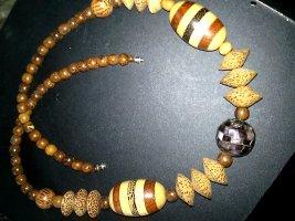 Handgearbeitete Halskette aus Afrika- Holz - 68 cm