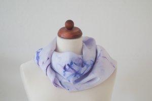 Handarbeit Silk Cloth blue violet-purple silk