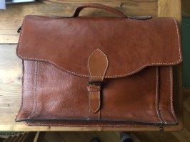 Handgefertigte Schultasche aus Leder