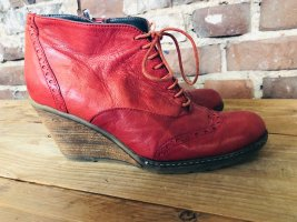 Ricardo Cartillone Wedge Booties red leather