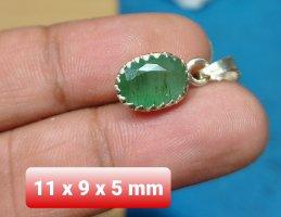 Handgefertigter Silber Anhänger mit Smaragd ( NEU)