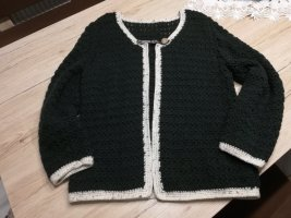 Traditional Vest dark green-cream wool
