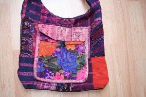 Handgemachte Tribal Fairtrade Schultertasche mit Florale-Muster