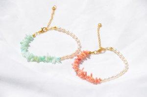 From Kali Bracelet en perles blanc
