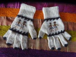 Gebreide handschoenen veelkleurig Alpacawol