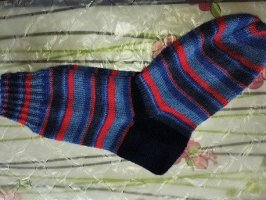 keine Marke Bottom dark blue-red wool