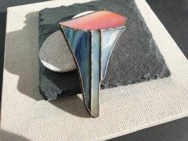 Handmade Brosche Bunt Glas Schmuckherstellung