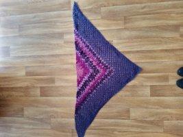 handmade Gehaakte sjaal roze-lila