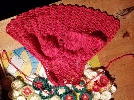 Handmade Top de ganchillo rojo-rojo ladrillo