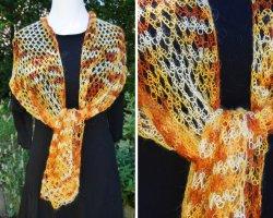 True Vintage Gehaakte sjaal veelkleurig Gemengd weefsel
