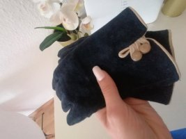 / Leather Gloves dark blue