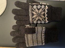 Rękawice z podszewką szary-biały