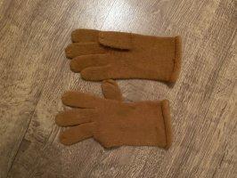 Gebreide handschoenen cognac