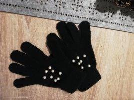 Rękawiczki polarowe biały-czarny