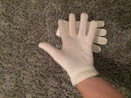 Guantes con dedos blanco