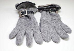 Gebreide handschoenen zwart-grijs