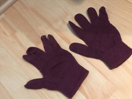 Guantes con dedos marrón-púrpura