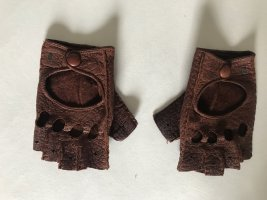 Roeckl Leather Gloves cognac-coloured-brown leather