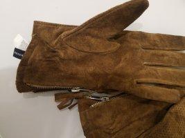 Reserved Handschoenen van imitatieleder brons