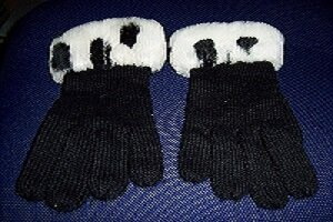 Knitted Gloves black cotton