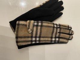 Gant à doigts noir-beige