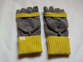 Seasalt Cornwall Rękawiczki z dzianiny szary-bladożółty