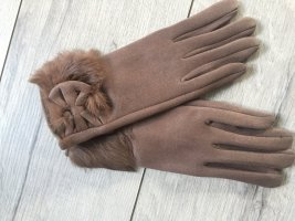 Fur Gloves light brown-beige