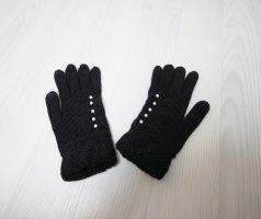 Vingerandschoenen wit-zwart