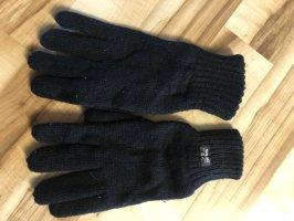 Guantes con dedos negro