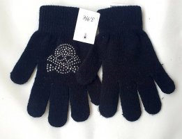 Gloves black-silver-colored