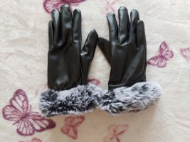 Padded Gloves light grey-grey