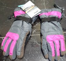 Crivit Rękawice termiczne szary-magenta