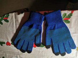 Knitted Gloves multicolored mixture fibre
