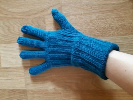 tchibo Knitted Gloves petrol