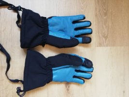 Salomon Gloves black-neon blue polyester