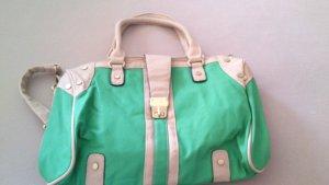Handtas groen-beige Polyester