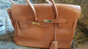 0039 Italy Carry Bag light brown-cognac-coloured