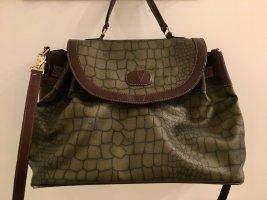 Handtasche aus Leder in Khaki