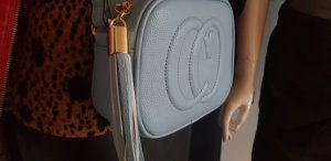 handtasche crossover leder gucci stil hellblau entzückend