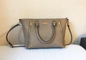 Handtasche DUNE grau/gold/schwarz