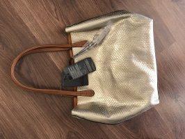 Handtasche Gold/Braun