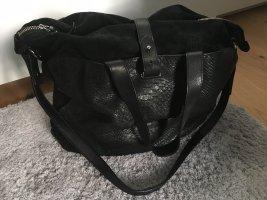 Handtasche im Ledermix