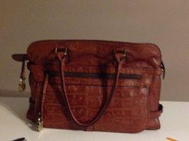 Handtasche in Braunleder