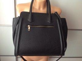 Handtasche in Trapez Look