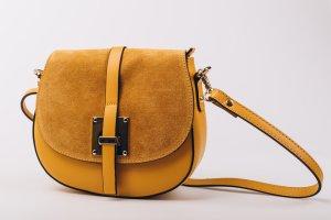Handtasche Ledertasche Schultertasche Umhängetasche senf neu leder