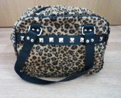 Handtasche Leopard Nieten schwarz nude Steampunk Goth Punk Rave Accessoires