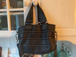 Liebeskind Shoulder Bag dark blue leather