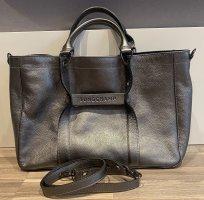 Longchamp Handbag silver-colored leather