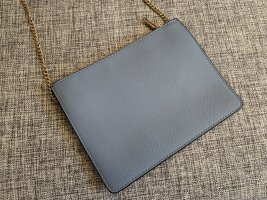 Handtasche Mango hellblau Clutch wie neu mit goldener Kette